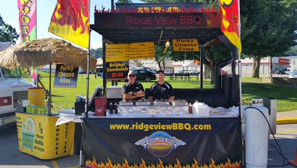 Concessions and events at Ridge View BBQ